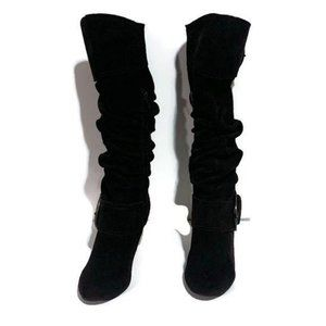 Naughty Monkey Boots Knee High Suede Sexy Slouchy